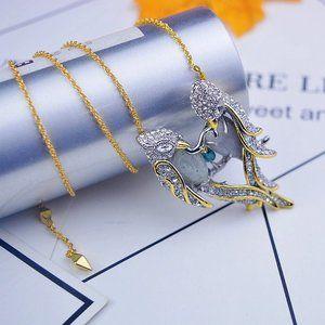 Alexis Bittar Zircon Parrot Necklace